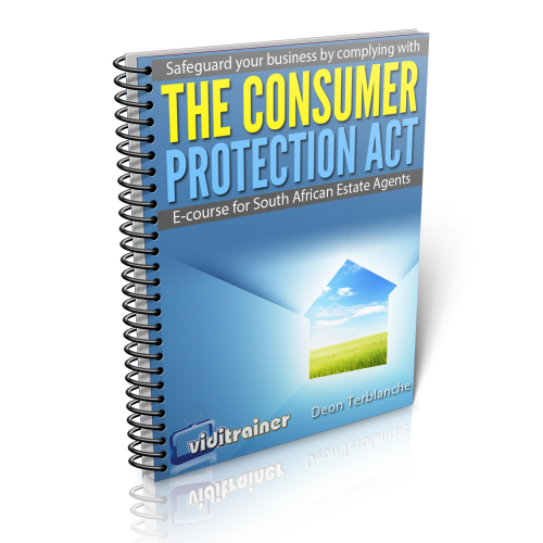 Ebook cover about the Consumer Protection Act for Estate Agents in South Africa