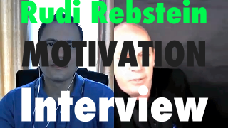 Image of Rudi Rebstein and Deon Terblanche during interview on motivation and goal setting