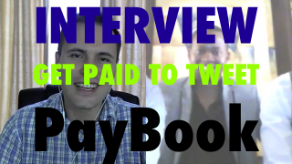 Image of interview with the founders of PayBook showing you how to get paid to tweet