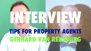 Image of Viditrainer interview about tips for property agents between Gerhard van Rensburg and Deon Terblanche