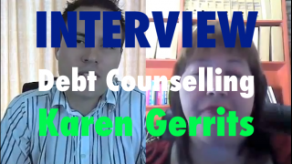 Image of interview about debt counselling in South Africa