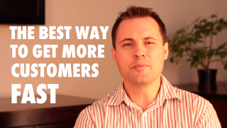 Image of video about the best way to get more customers fast