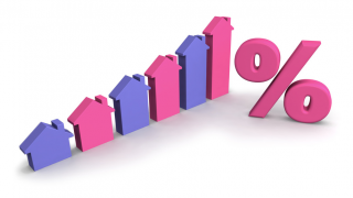 Image of housing inflation concept