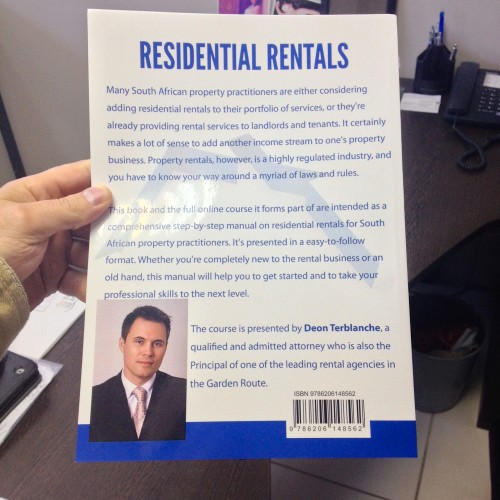 Image of Residential Rentals for Property Practitioners book - back cover